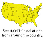 See stair lift installations from around the country